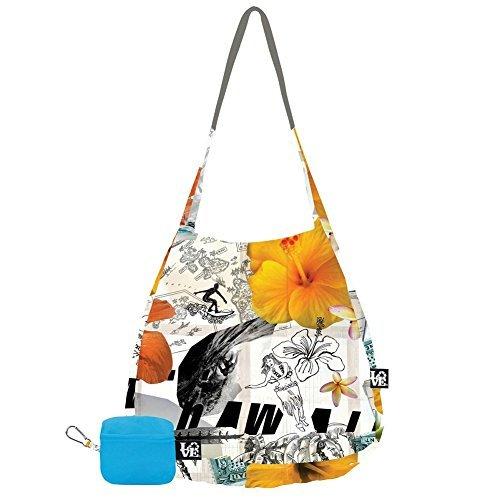 Love Bags Stash It Tote in Hula Hula Tropical Print -