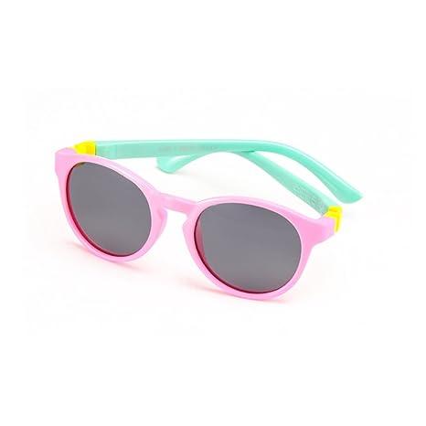 Gafas de seguridad Retro forma redonda niños y niñas gafas de sol polarizadas flexibles con protección
