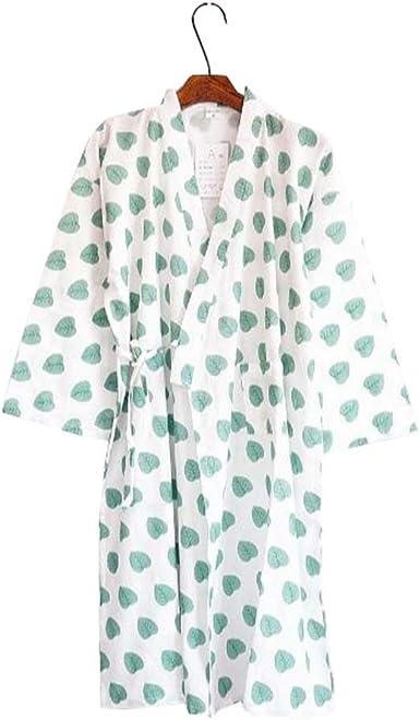Mujeres Algodón Kimono Robes Pijamas de dormir Khan Steamed Albornoz Yukata - B: Amazon.es: Ropa y accesorios