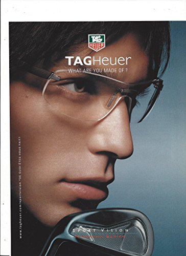 **PRINT AD** For Tag Heuer Sport Vision Panorama Series Sunglasses **PRINT - Sunglasses Hills Tag