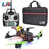 LHI Full Carbon Fiber 250 mm Quadcopter Race Copter Racing Drone Frame Kit RTF +FlySky FS-T6 for FPV (Assembled)