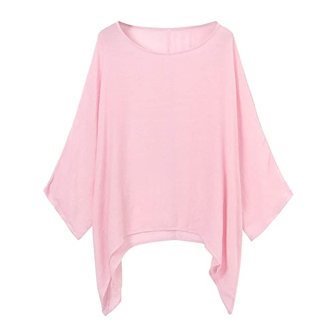 Amazon.com: Women Shirt Tee Top Blouse Lady Plus Size Jumper Tunic Loose Homewear Beachwear Boho YOcheerful: Clothing