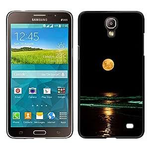 EJOY---Cubierta de la caja de protección para la piel dura ** Samsung Galaxy Mega 2 ** --Completo Waves Yellow Moon Beach Nigh Mar Océano
