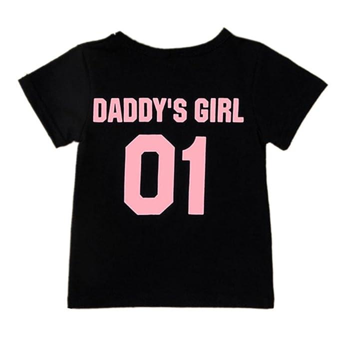 Amazon.com: STARON Daddy número 1 niños bebé T Shirt Tops ...