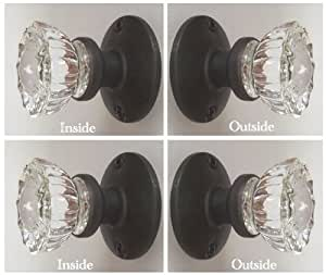 Two sets oil rubbed bronze perfect reproduction of the for 1920 glass door knobs