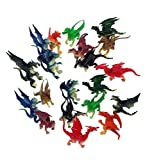2.5' - 3' Plastic Fire Breathing Mini Dragons - 20 Pieces