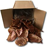 Pig Ears Natural Treats for Dogs -100 Pack - Bulk