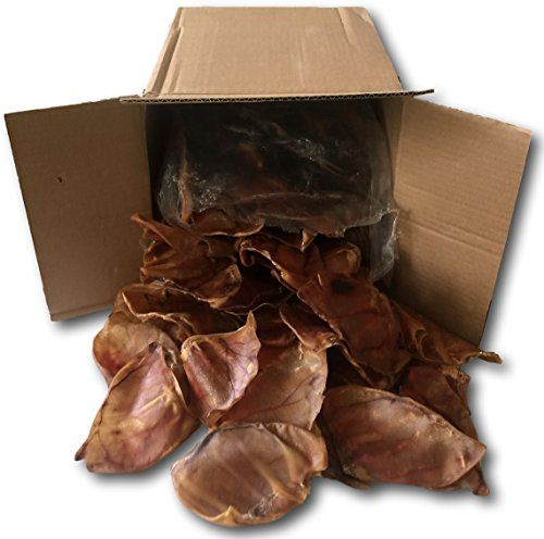 Pig Ears Natural Treats for Dogs -100 Pack - Bulk by Pet Treats Place