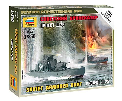Zvezda Models Soviet Armored Boat Model Kit (1/350 Scale)