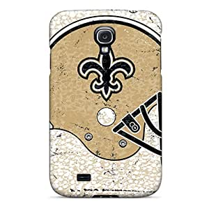 Durable Hard Cell-phone Cases For Galaxy S4 (DGV25928vSBn) Support Personal Customs Beautiful New Orleans Saints Pattern