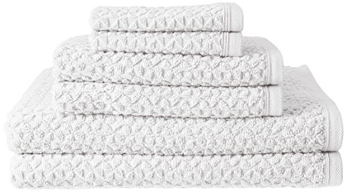 Price comparison product image Lucia Minelli Beverly Turkish Jacquard Luxury 6 Piece Towel Set,  White
