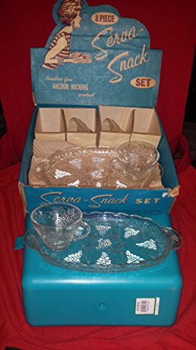 Serva-Snack Snack Set; Grape and Leaves Pattern (Vintage 1950)