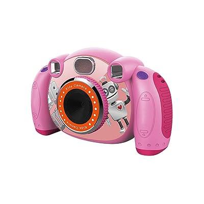 Liuzecai Cámara Infantil Niño Mini Cámara Cámara de Video Regalo Niña Niño Juguete Carcasa de Silicona para niños niños niñas (Color : Pink, Size : Naked Host): Hogar