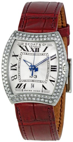 Bedat No 3 Silver Dial Diamond Bezel Ladies Watch 314.050.100