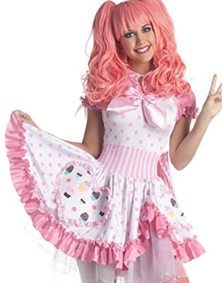 Party King Sexy Harajuku Pink Cupcake Girl Dress Halloween Costume