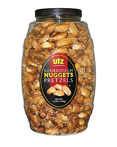 Utz Sourdough Nuggets Pretzels - 52 oz. Barrel - Bite-Size Pretzels with Classic Sourdough Flavor, Perfectly Salted with Zero Cholesterol per Serving