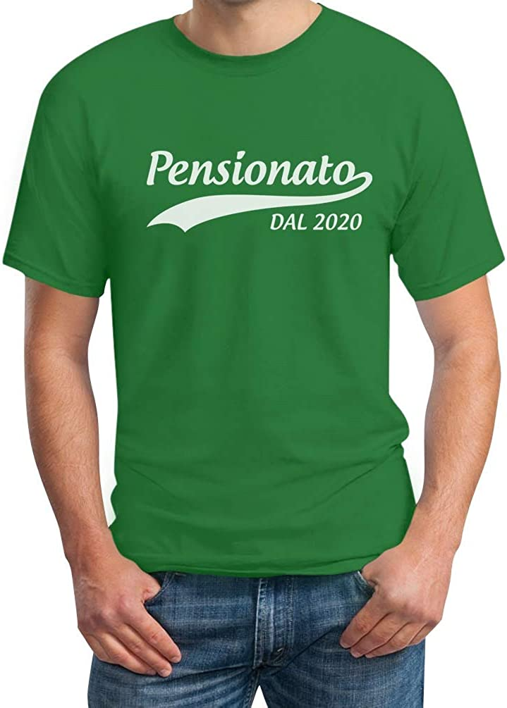 Shirtgeil Pensionato dal 2020 Regalo Annuncio Pensione Maglietta da Uomo