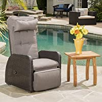 Deals on Cushion by Christopher Knight Home Ostia Wicker Recliner