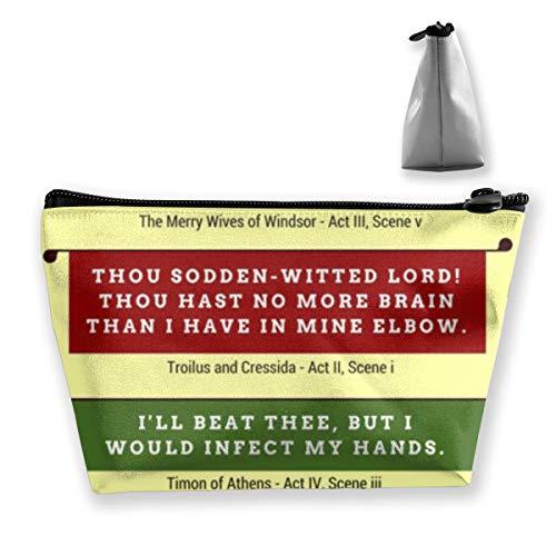 - MODREACH Shakespeare's Insults Repertory Cosmetic Bag Makeup Storage Bag Toiletry Organizer Pencil Case Handbag
