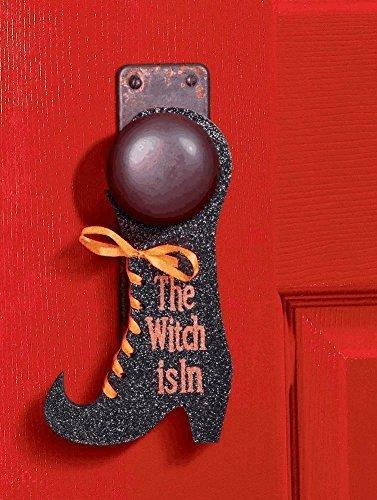 Grasslands Road Halloween Plaque Door Hanger - The Witch Is In]()