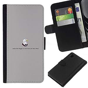 All Phone Most Case / Oferta Especial Cáscara Funda de cuero Monedero Cubierta de proteccion Caso / Wallet Case for Sony Xperia Z1 L39 // Doctors eagle