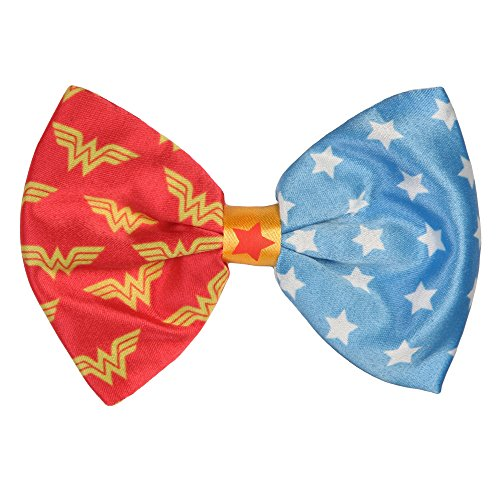 Price comparison product image Wonder Woman Logo and Stars Clip On Hair Bow