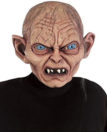 amazon com rubie s lord of the rings gollum mask multicolor one