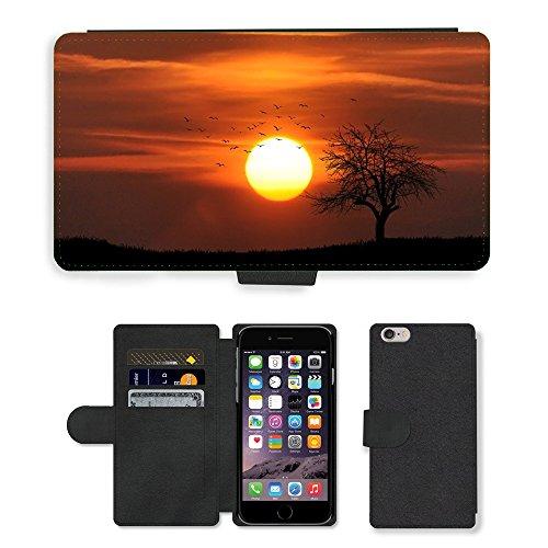"PU Leather Cover Custodia per // M00421605 Agriculture arables Nuages ??Campagne // Apple iPhone 6 PLUS 5.5"""