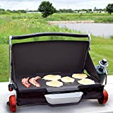 George Foreman Camp and Tailgate Portable Lightweight Propane Grill/Griddle with Reversible Plate and Detachable Carrying Strap, Red