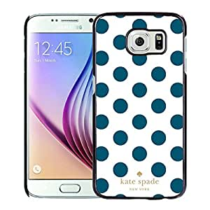 Luxurious And Popular Custom Designed Kate Spade Cover Case For Samsung Galaxy S6 Black Phone Case 298