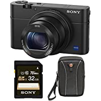 Sony DSCRX100M2/B 20.2 MP Cyber-shot Digital Still Camera (Black) Bundle