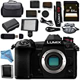 Panasonic Lumix DC- G9 DC-G9KBODY Mirrorless Micro Four Thirds Digital Camera + 64GB SDXC Card Memory Bundle