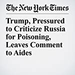 Trump, Pressured to Criticize Russia for Poisoning, Leaves Comment to Aides | Peter Baker