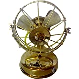 Unique Brass Nautical Handmade Decorative Small Table Fan Fine Work India/asia