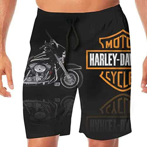 cdda741d222b7 Men's Harley Davidson Logo Mens Summer Swim Trunks Quick Dry Funny Beach Board  Shorts Casual Pants