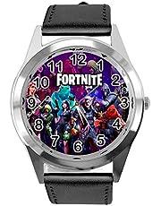 TAPORT® Zwart Lederen Horloge voor FORTNITE Fans