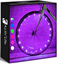 Activ Life 2-Tire Pack LED Bike Wheel Lights with Batteries Included! Get 100% Brighter and Visible from All A
