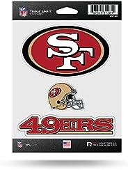 NFL San Francisco 49ers Die Cut 3-Piece Triple Spirit Sticker Sheet