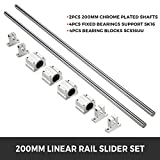 BestEquip Linear Rail Slide 2PCs 16mm x 200mm
