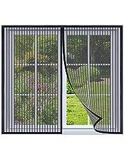 Magnetische vliegengaas voor ramen 100x115cm Zwart Magnetische insectengaas hordeur, magnetisch Vliegengordijn, insectenhor muggengaas magneet Vliegenhor voor raam en hordeur