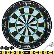 Viper Chroma Tournament Bristle Steel Tip Dartboard Set with Staple-Free Bullseye, Galvanized Metal Triangular