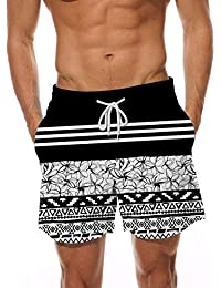 7436c43a2a Mens Swim Trunks Quick Dry Beach Board Shorts Waterproof Swim Shorts Bathing  Suits with Mesh Lining