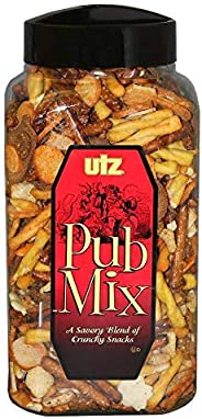 Utz Pub Mix - 44 Ounce Barrel - Savory Snack Mix, Blend of Crunchy Flavors for a Tasty Party Snack - Resealabl