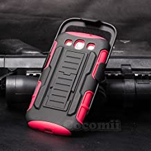 Galaxy S3 Case, Cocomii Robot Armor NEW [Heavy Duty] Premium Belt Clip Holster Kickstand Shockproof Hard Bumper Shell [Military Defender] Full Body Dual Layer Rugged Cover For Samsung I9300 R530X (Red)