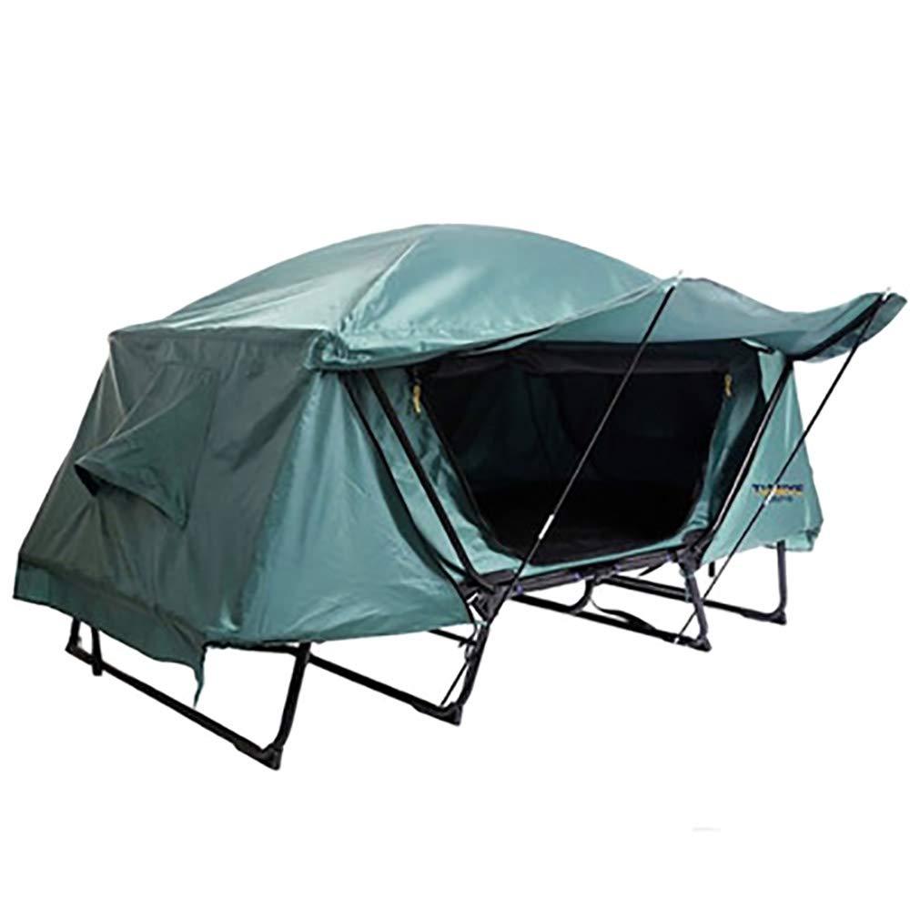 OOFAYHD Tente extérieure Hors site, Camping en Plein air Simple Tente Double Portable, pêche Multifonction Gratuite, lit de Tente Hors site Double Couche Pluie résistant à l'humidité  -