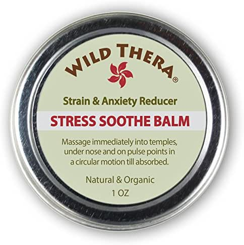 Wild Thera Natural Anxiety Relief. Herbal Stress Relief for Adrenal Stress Support, Depression, Adrenal Fatigue, Social Anxiety. Can be used with Stress Ball, Anxiety Pills, Stress Toys & Aromatherapy