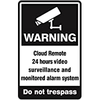 Video Surveillance Sign - CCTV Security Alert 24 Hour Surveillance All Activities Are Monitored Sign Large 18 x 12 durable sign yard – outdoor sign Cloud Remote Alarm sign