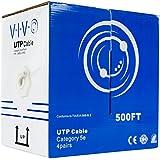 New 500 ft bulk Cat5e Ethernet Cable / Wire UTP Pull Box 500ft Cat-5e Grey ~ VIVO (CABLE-V002)