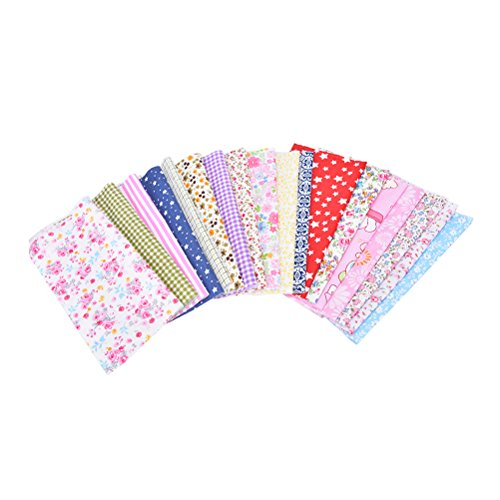 10 Pcs Mixed Printing Vintage Cotton Linen Fabric Handmade Craft DIY Cloth Sewing£¬Color Random by Team-Management