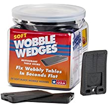 Wobble Wedge   Soft Black   Restaurant Table Shims   30 Piece Jar